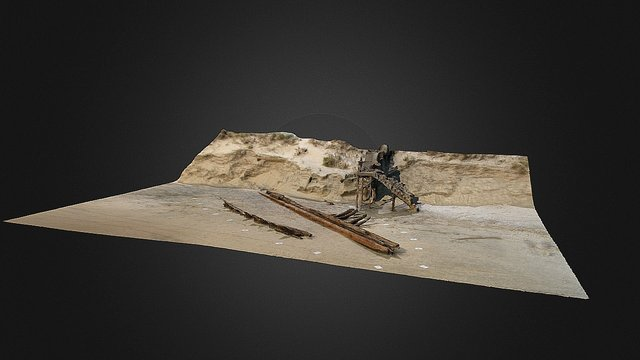 O'keefe Shipwreck Site, Corolla low res 3D Model