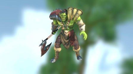 Warcraft - Orc Warrior 3D Model
