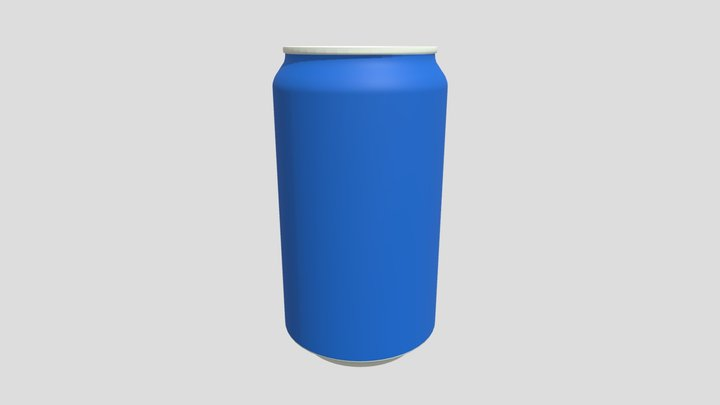 Cola Can (dressed) 3D Model