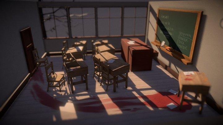 Classroom Scene 3D Model