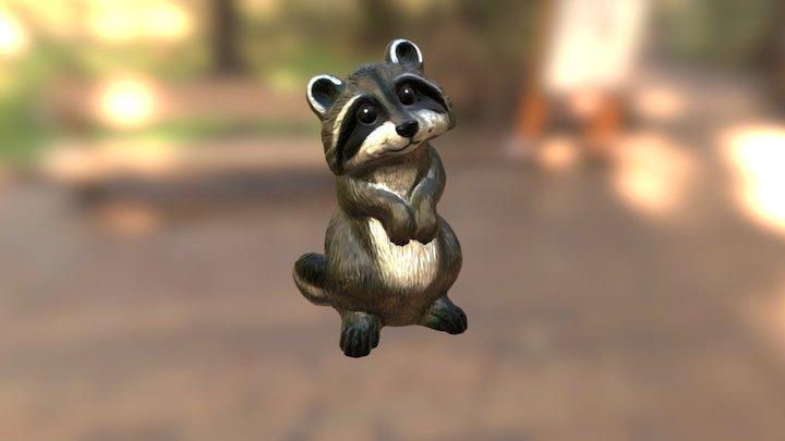 Garden Raccoon 3D Model