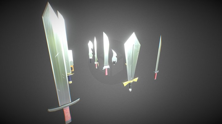 Fantasy Swords (PBR) 3D Model