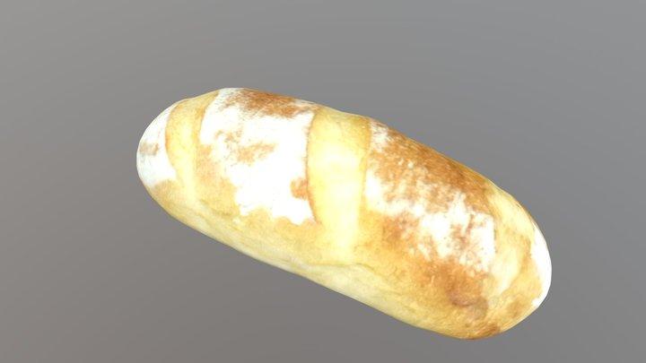baguette(Low Poly) ver.2 3D Model