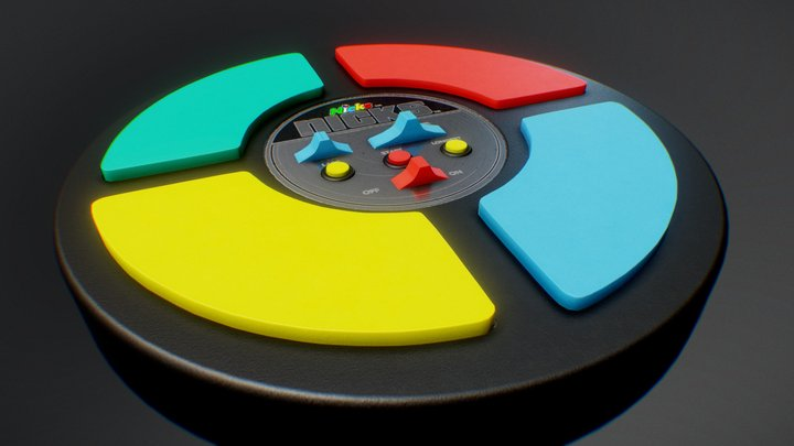 Pattern Game (Simon) 3D Model
