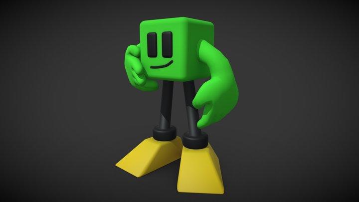 SquareMan 3D Model