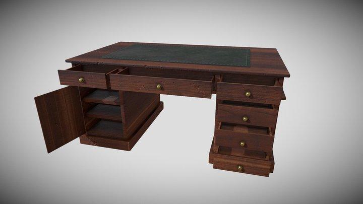 Victorian Desk 3D Model