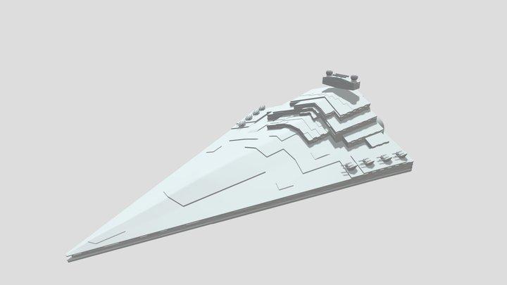 Imperial Star Destroyer (High-Poly) 3D Model