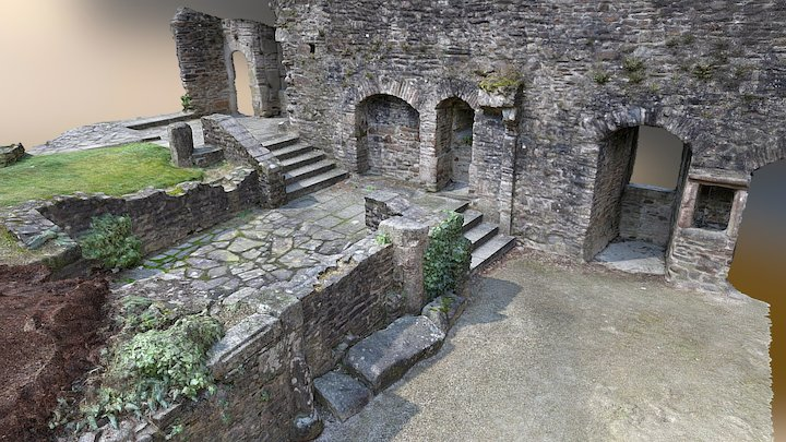 Rempart Walls scenery 1 - Fougères castle 3D Model