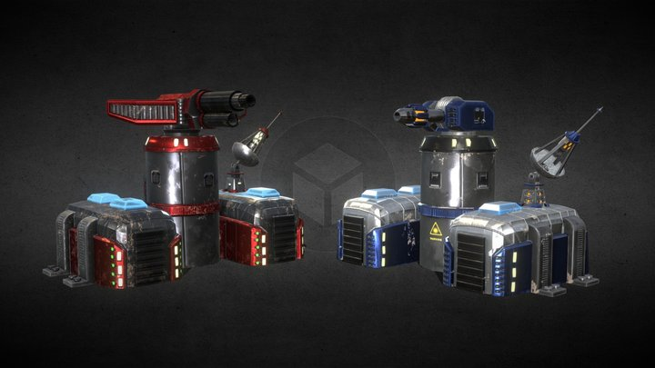 Pack Sci-Fi Towers 3D Model
