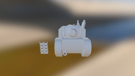Stylized Tank Progress 3D Model