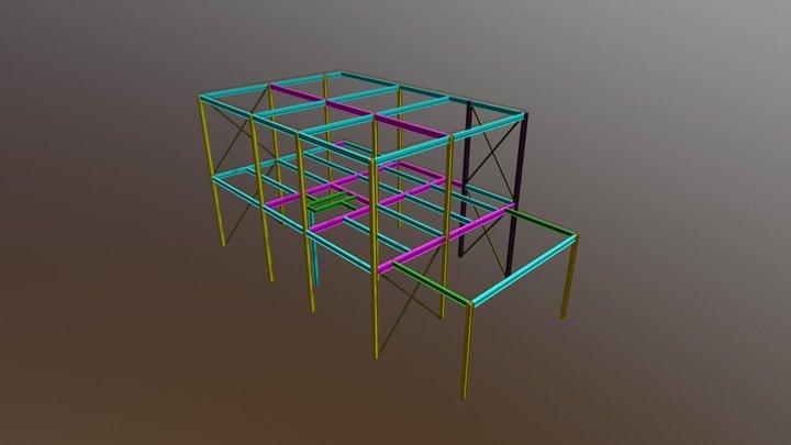 Job N38 2 Storey Steel Structure 3D Model