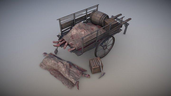 Cart corpse (The Darkest Red) 3D Model