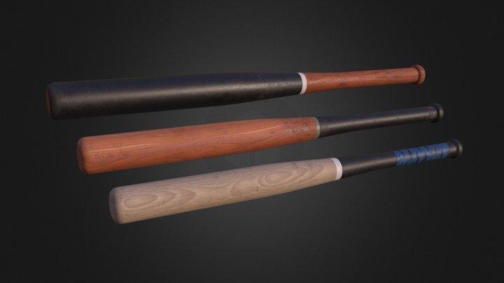 Baseball Bat – Pack 00 3D Model
