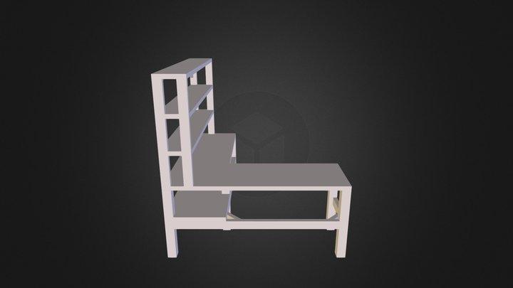 Outdoor Workbench 3D Model