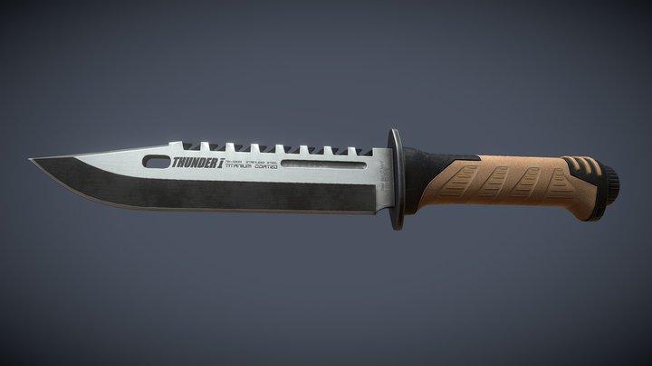 Knife Tactical 3D Model