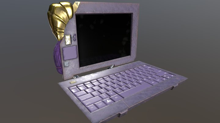 Fantasy laptop 3D Model