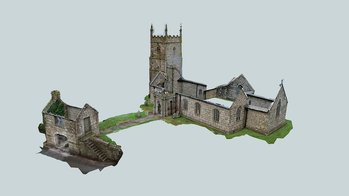 Wendron Church & Lychgate - Exterior 3D Model