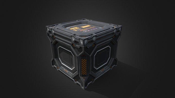 Sci-fi cargo crate 3D Model