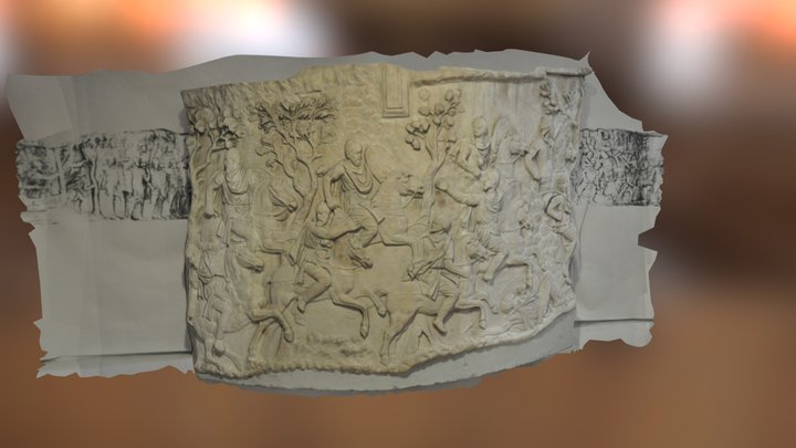 Part of Trajan's Column in Bucharest (01) 3D Model