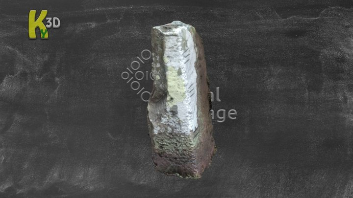 KE054-032004- Aglish - OghamStone 3D Model