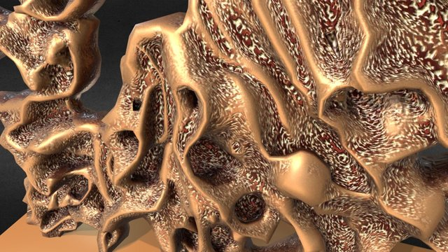 1D MISC ART Bone Sculpture Blend 3D Model