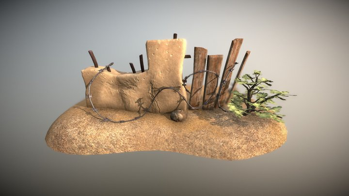 Environment Prop - Wall Cover 3D Model