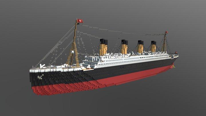 Minecraft 1:1 RMS Titanic 3D Model