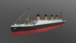 Minecraft 1:1 RMS Titanic 3D Model