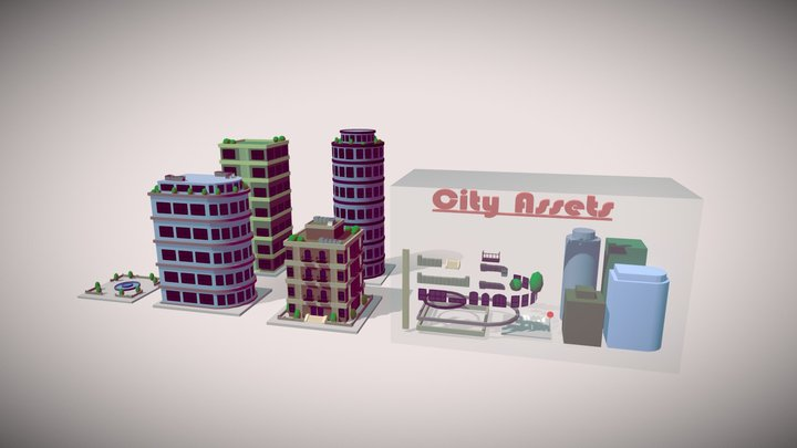 City Asset Pack 3D Model