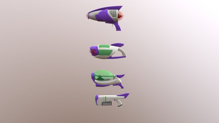 Stylized Weapons Pack #1 style 1 3D Model