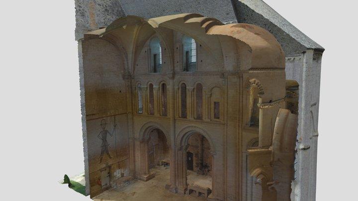 Coupe de l'église prieurale - St Gabriel Brécy 3D Model