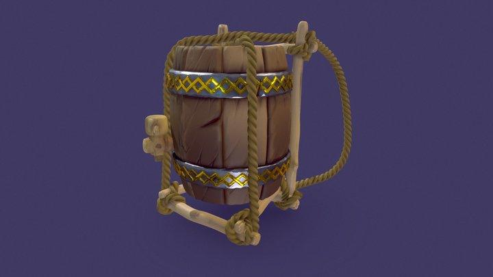Dwarven Portable Beer Barrel 3D Model