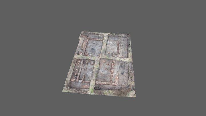 Opgraving boerderij Uitdammerdijk 3D Model