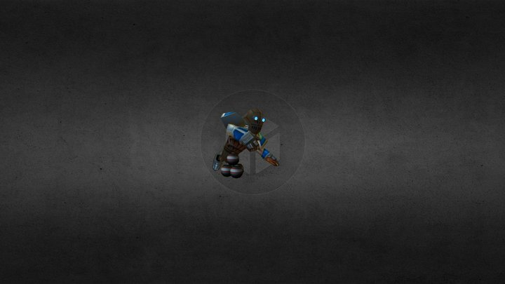 Bomb Thrower Mobile game character 3D Model