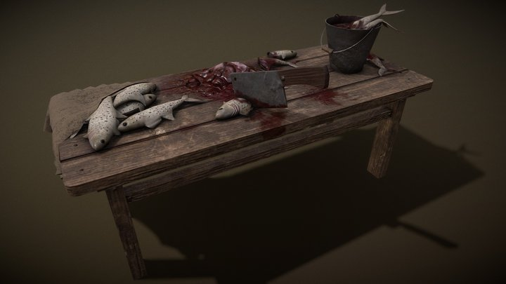 Fishy table 3D Model