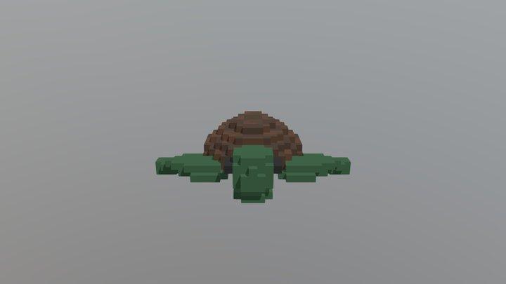 Voxel Sea Turtle 3D Model
