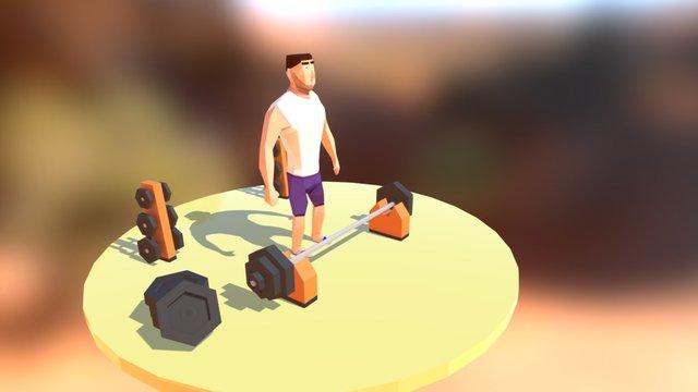 Barbell 3D Model