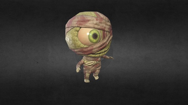Chibi Mummy 3D Model
