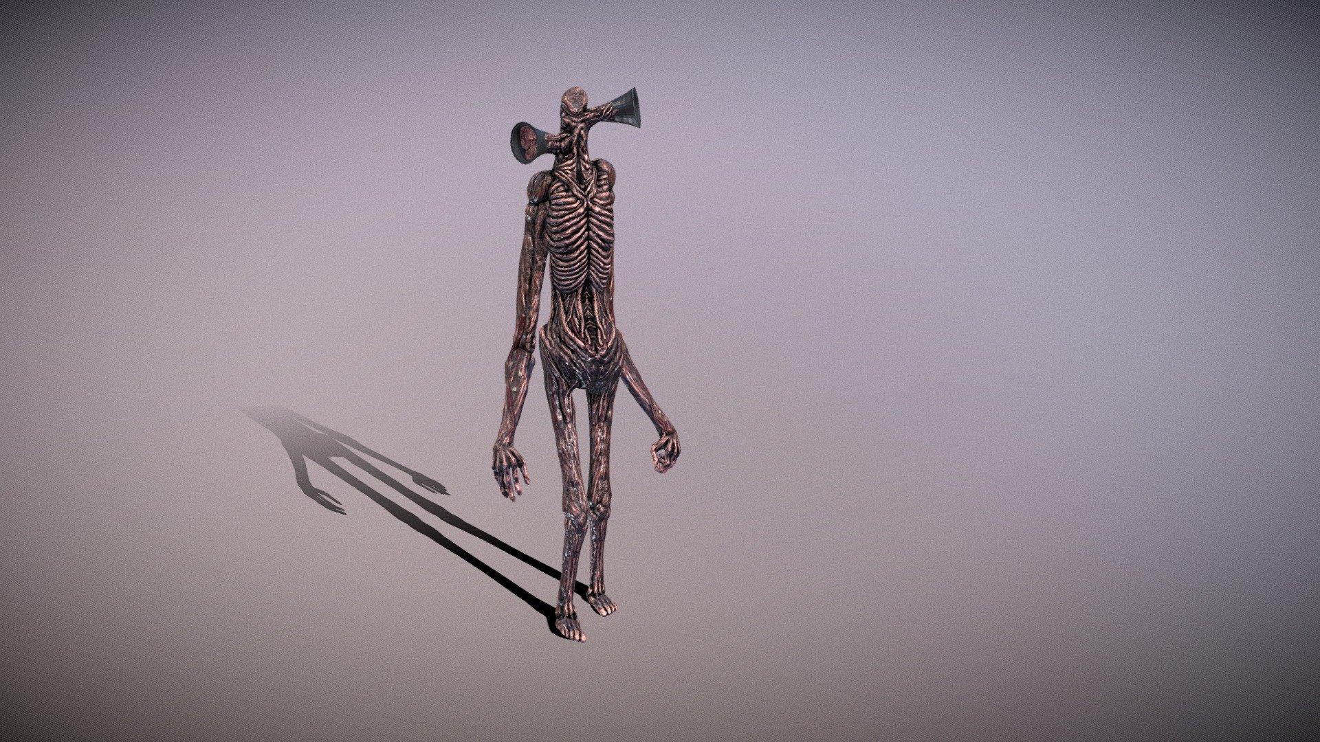 Sirenhead A Monster Created By Trevor Henderson 3d Model By Xweert123 Xweert123 Ac7e5e0 Sketchfab