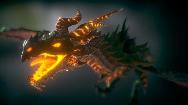 """Deathwing"" Alduin Revisited 3D Model"