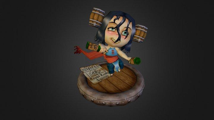 Tippi Lush the Drunken Monk 3D Model