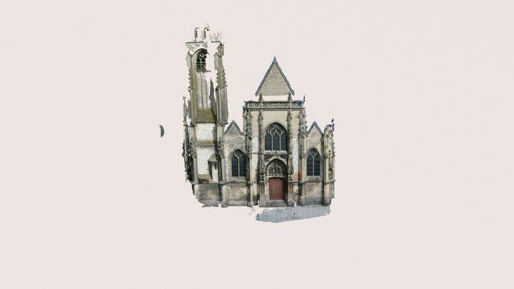 Facade of Eglise St-Germain Amiens 3D Model