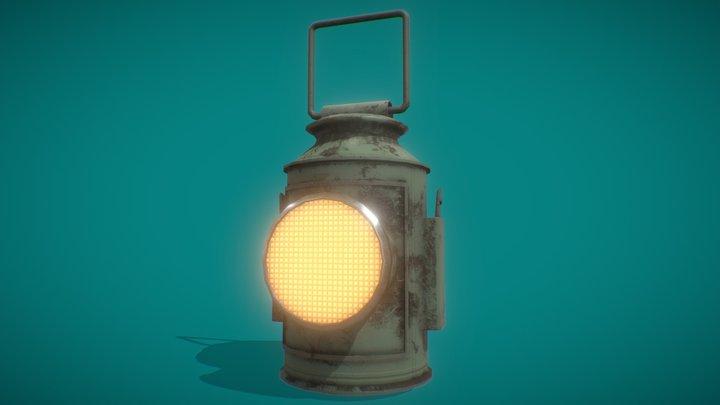 Dark Lantern Rigged 3D Model