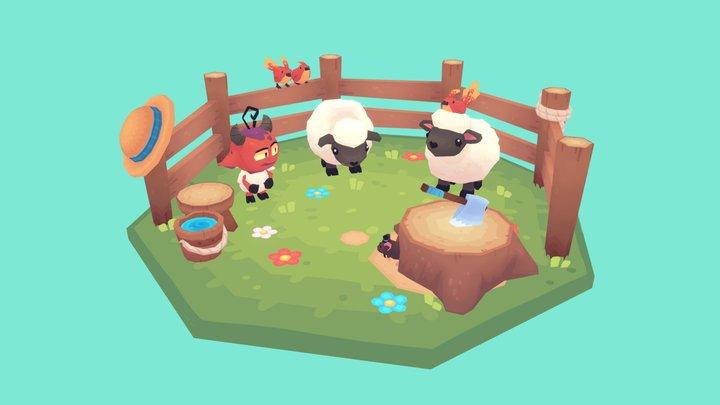 Fellow Sheep 3D Model