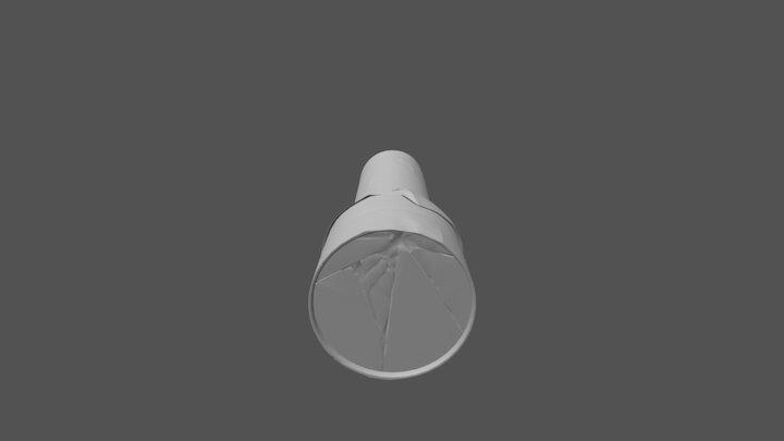 Medium Prop Flashlight 3D Model