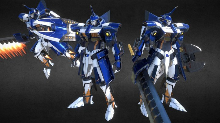 A.D.A.M. - Advanced Denfence Android Mech 3D Model