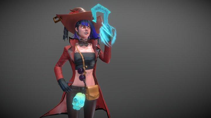 Sinclair, The Pirate Warlock 3D Model