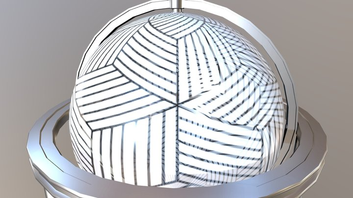 Globe Texturing Contest (textured by XM) 3D Model