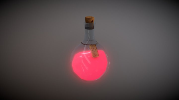 Potion Bottle 3D Model