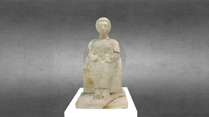 Statua Cinerario Etrusca 3D Model